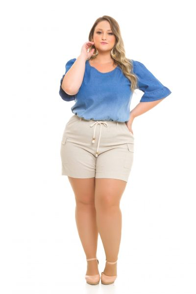 Blusa Jeans 991 Shorts Jogger Linho 1025