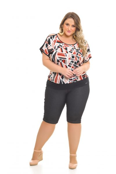 Blusa Liganete 984 Bermuda Cotton-Jeans 1022