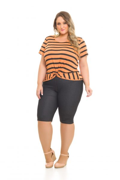 Blusa Malha-Crepe 980 Bermuda Cotton-Jeans 1022