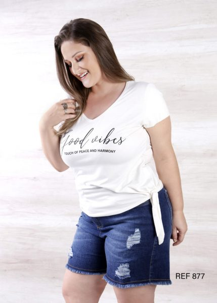 Ref 877 T-Shirt com amarração