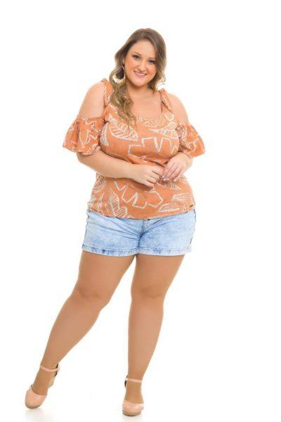 Ciganinha Viscolycra 982 Shorts Jeans 1019
